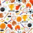 Fun wonky sporting icons seamless pattern background — Stock Vector #70953511