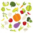 Fresh Organic Vegetables — Stock Vector #71198103