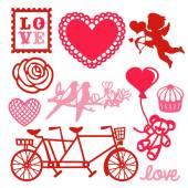 Romance Love Design Elements — Stock Vector