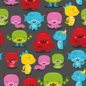 Merry Monsters Seamless Pattern Background — Stock Vector