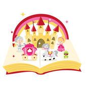 Fairytale Story Book — Stock Vector