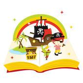 Treasure Island Story Book — Stock Vector
