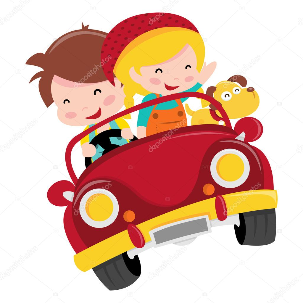 Convertible Car For Kids Happy Ride Stock Vector C Totallyjamie