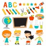 ������, ������: Retro Kids Back To School Set