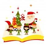 Christmas Santa Elves Story Book — Stock Vector #71202251