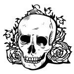 Постер, плакат: Skull Flowers