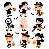 Halloween Trick Or Treat Kids — Stock Vector
