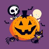 Spooky Happy Trick Or Treat — Stock Vector