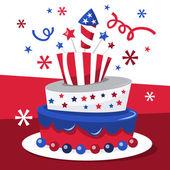 Americana Topsy Turvy Cake — Stock Vector