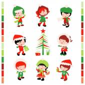 Christmas Winter Kids — Stock Vector