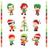 Christmas Winter Kids — Stockvektor
