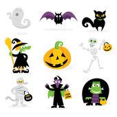 Halloween Monsters Icons — Stock Vector