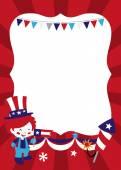 Americana Patriotic copy space — Stock Vector