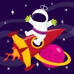 Extreme Space Adventure — Stock Vector #72499081
