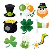 St. Patrick's Day Icon Set — Stock Vector