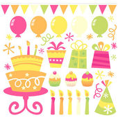 Birthday Party Clip Art Collection — Stock Vector