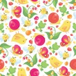 Cute Spring Seamless Pattern Background — Vecteur #72500289