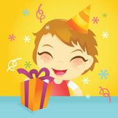 Aniversariante feliz — Vetor de Stock