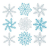 Snowflake filigree — Stock Vector
