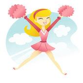Happy Cheerleader — Stock Vector