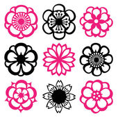Flower Filigree Set — Stock Vector