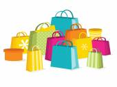 Colorful Sale Shopping Bags — Stock Vector