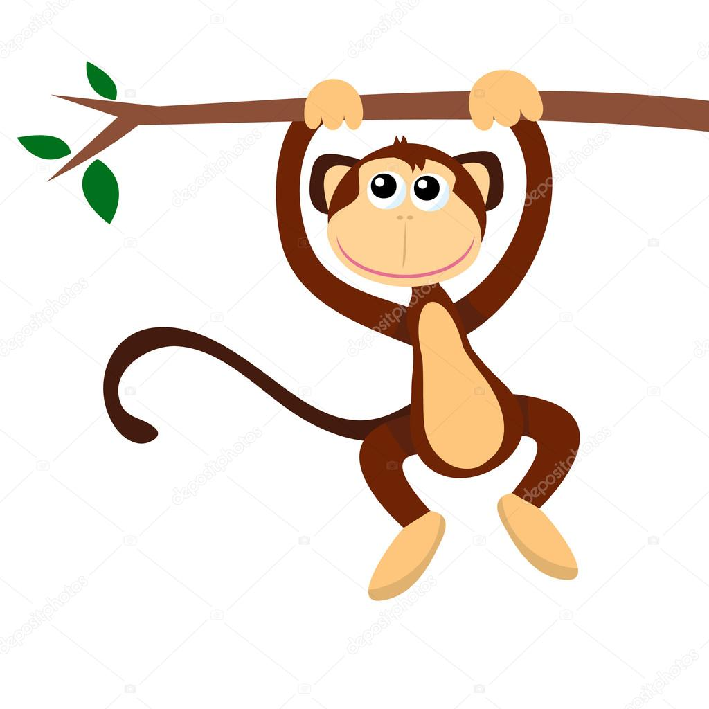 clipart monkey hanging from tree - photo #28