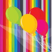 Balloons Rainbow Fun — Stock Vector