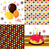 Retro Party Favors — Stock Vector