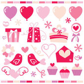 Retro Sweet Romance Clip Arts — Stock Vector