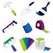 Home Improvement Icons — Stock Vector