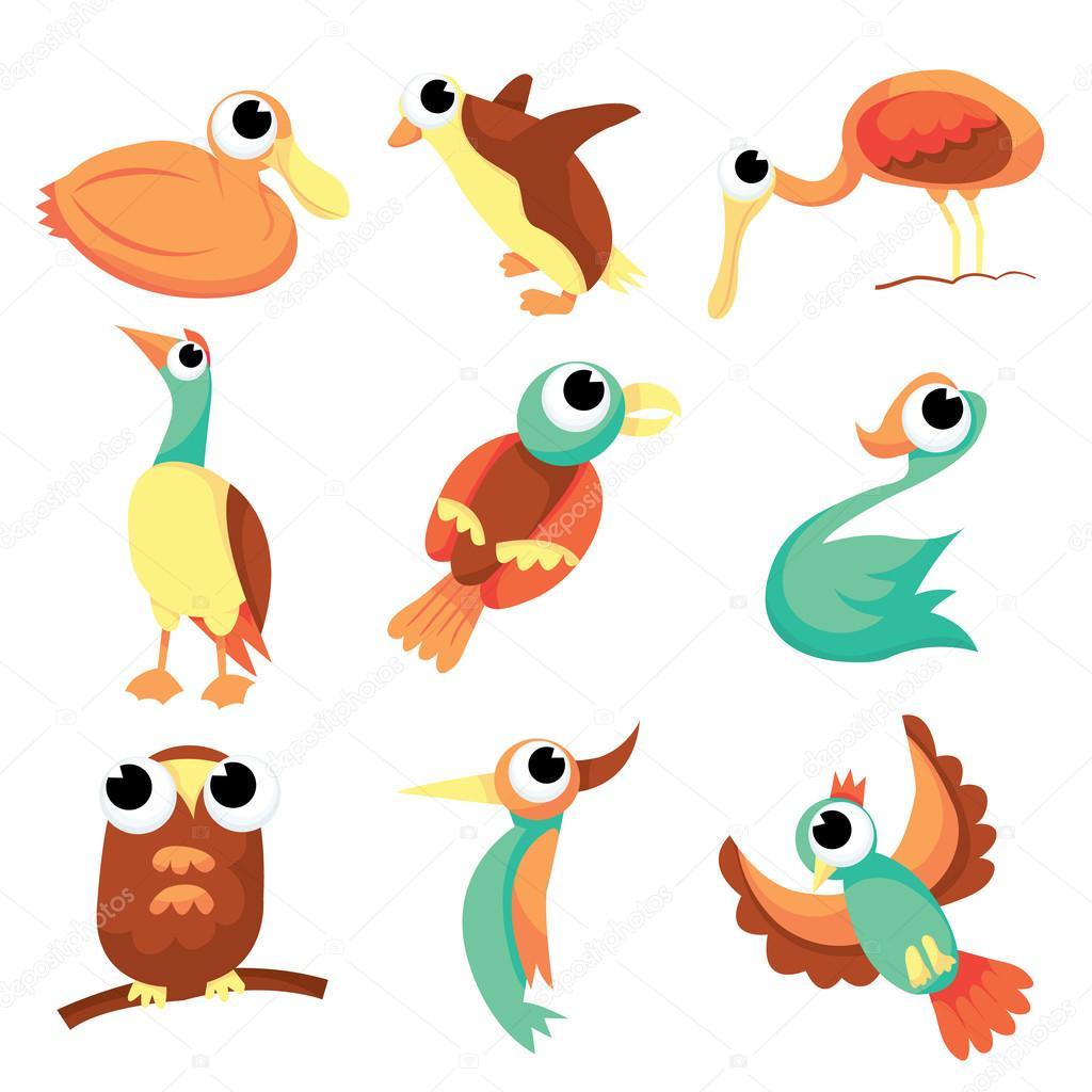 Stock Illustration Cartoon Flock Of Birds