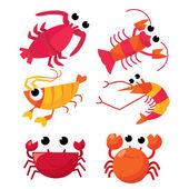 Cartoon Crustacean — Stock Vector