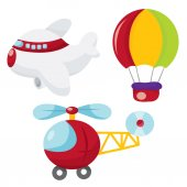 Cartoon Air Transportation — Stock Vector