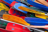 Colorful oars — Stock Photo