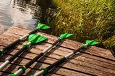 Greenl oars — Stock Photo
