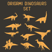 Origami dinosaurs — Stock Vector
