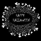 Happy halloween frame vector — Stock Vector