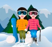 Ski Girls — Stock Vector