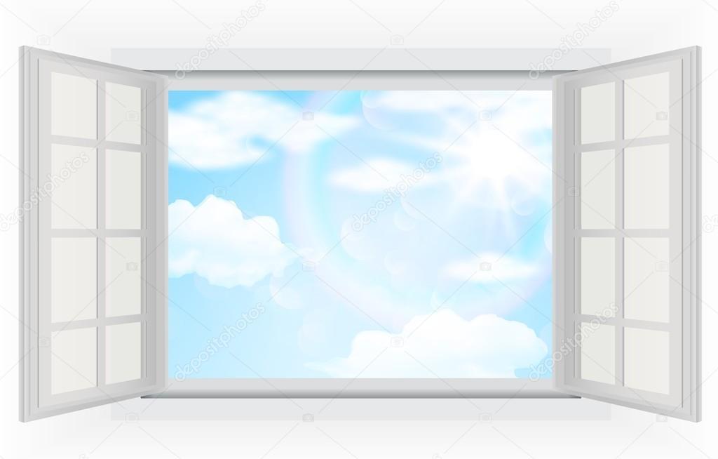 Fen tre ouverte avec la vraie lumi re du soleil les for La fenetre soleil
