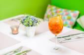 Orange drink in high glass — Stock Photo