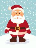 Santa Standing in Snowy Day — Stock Vector