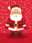 Noel Baba kırmızı ayakta — Stok Vektör