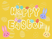 Happy Easter Yellow — Stock Vector