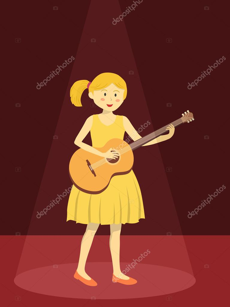 Girl in the yellow dress play