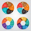 Vector circle elements set for infographic. — Stock Vector #72405763