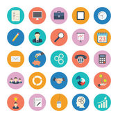 Flat business icons — Stock Vector