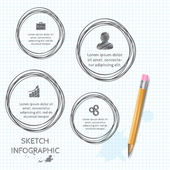 Vector doodle sketch elements for infographic. — Vecteur