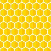 Beautiful honeycomb seamless background. — Stock Vector