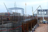 Construction of building in Sofia, Bulgaria Nov 24, 2014 — Stock Photo
